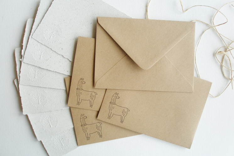 llama writing paper