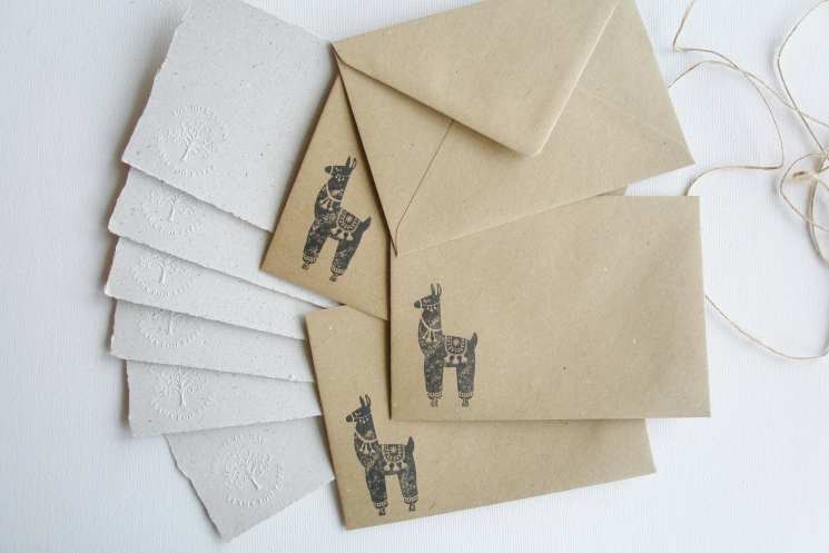 llama letter set