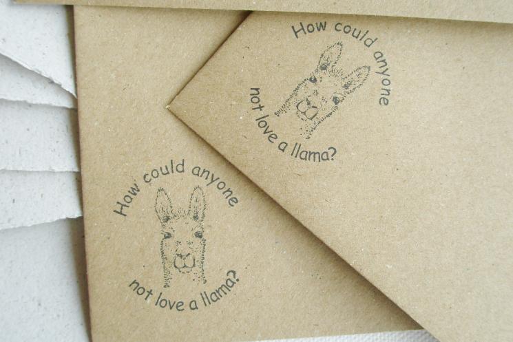 llama love letter set