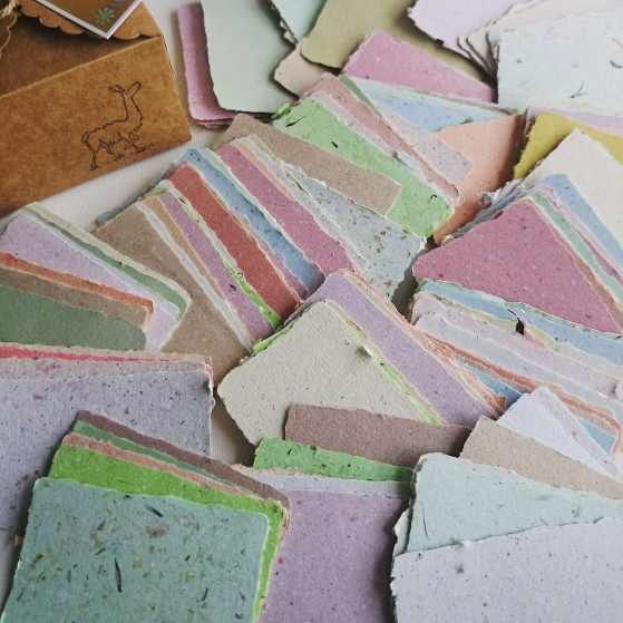 Handmade Recycled Business Cards