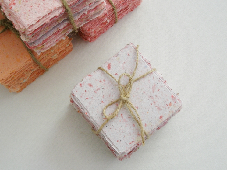 Handmade Recycled Note Paper