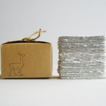 Alpaca Fibre Business Cards - Blank - Handmade Business Cards - Recycled Business Cards - Calling Cards with Alpaca Fibre - 120 Boxed Cards
