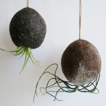 Air Plant Bubble. Llama Fibre Planter / Hanging Planter / Tillandsia Holder / Indoor plants