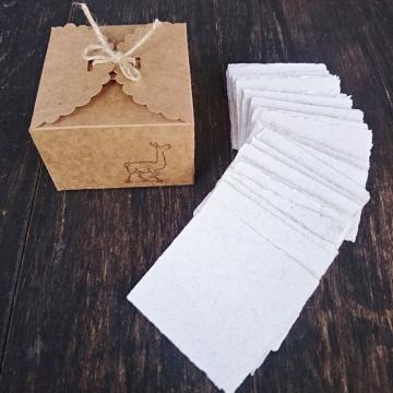 Alpaca Fibre Note Paper - 100 Sheets - Handmade - Recycled - Hand torn Note Paper - Box of Note Paper - Alpaca Gift - Eco Friendly Memos