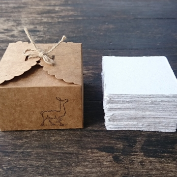 Alpaca Fibre Note Paper - 100 Sheets - Handmade - Recycled - Hand torn Note Paper - Box of Note Paper - Alpaca Gift - Eco Friendly Memos