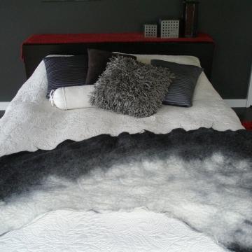 Alpaca Felt Bed Runner - Rug - Throw - Mat
