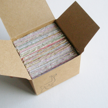 Message Paper for Mum. Box of Hand-made Recycled Paper. 120 Small Hand Torn Pieces