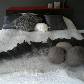 Llama Felt Pillow.  Handmade Decor Cushion