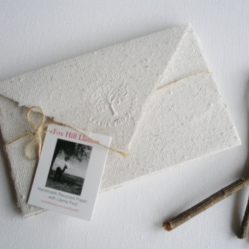 Letter Paper. Llama Poo Paper ...Handmade recycled paper with ....  llama poo! 4 Lettergrams