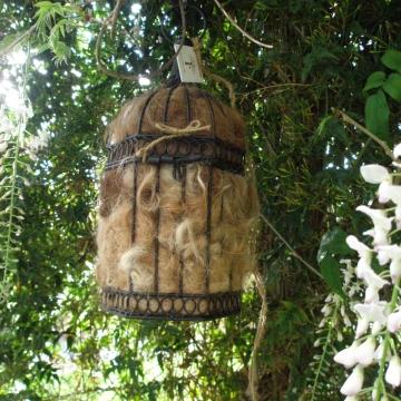 Bird Nester - Llama Fibre Nesting Material - Nesting Material - Attract Native Birds to your Garden -  LARGE  birdcage - Garden Decor