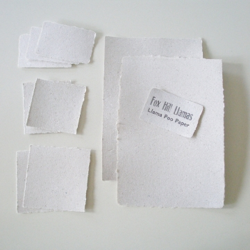 Sample - Llama Poo Paper - Handmade recycled,  Paper with LLAMA poo! Paper Sample, Business Cards Recycled, Paper, Llama Gifts, Llamas, Poop