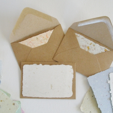 6 Mini Blank Cards and Envelopes