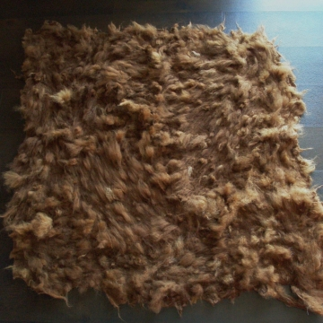 Alpaca Cat Bed / Mat / Cat Bedding Brown