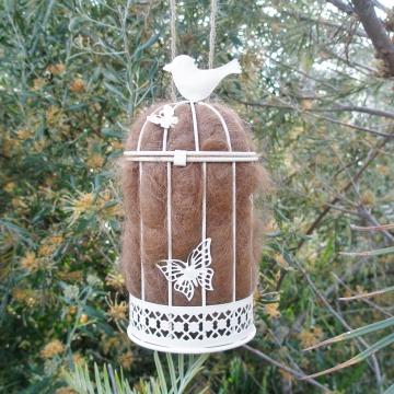 Nester, Nest Builder, Llama Fibre. Nesting Material for Native Animals, Nature Garden, Nest Filler, Wildlife Nester, Bird's Nest Fiber