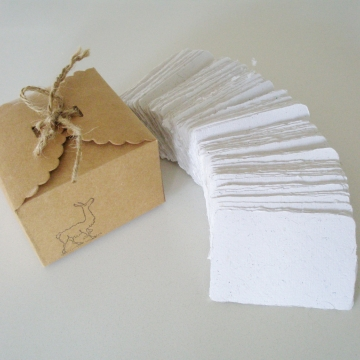 Llama Fibre Business Cards, Blank, Hand-made, Recycled Paper with Llama Fibre, 120, Eco Friendly, Organic, Deckle Edge, Pet Grooming Card