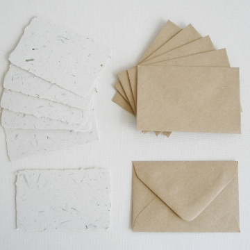 6 Mini Seagrass Cards with Envelopes