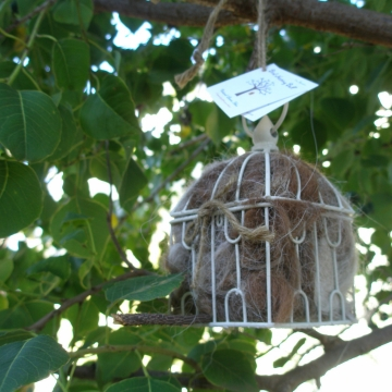 Bird Nester - Hang in garden for native birds, Llama Fibre - Eco Friendly, Gardener Gift, Nature Lover Gift, Garden Decor, Birdwatcher Gift