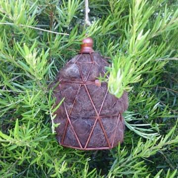 Bird Nester, Alpaca Fibre,. Nesting Material to Attract Native Birds to your Garden, Brown Lantern, Bird Nesting Material, Bird House Filler