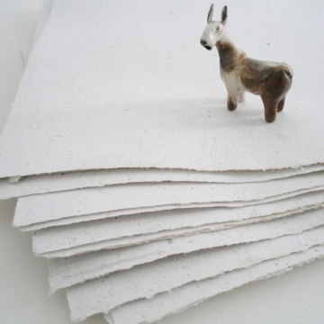 20 sheets Llama Fibre Paper, Handmade recycled paper with llama hair, A4 Hand Made Art Paper, White Paper, Journal Paper, Bookbinding