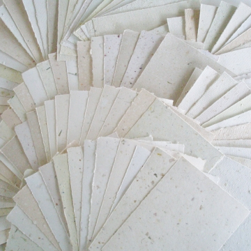 "4 x 6"" Hand made recycled Paper Sheets, Neutral, For Writing Poems, Attendance, Calligraphy, Printing, Love Letters. Eco Friendly, Home made"