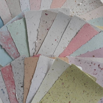 10 sheets A5 Hand-made Recycled Paper, Mixed, Randomly Chosen, Assemblage, Project, Art, Craft, Mixed Media, writing papers