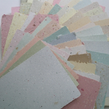 Hand-made Recycled Paper, 30 Sheets Mixed, A5, Ideal for Collage, Project, Art, Craft, letters, school assignment, writing sheets, love note