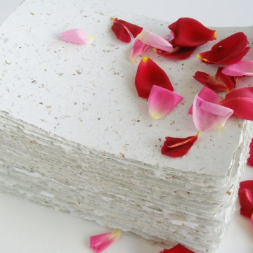 Rose Petal Paper 5 Sheets