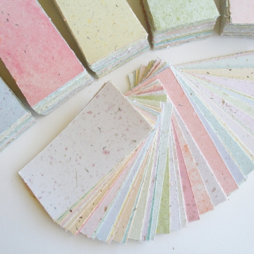 Handmade Recycled Paper, Menu Paper, Invitation, Floral Paper, Coloured Paper Sheets, Letterpress Paper, Botanical, Colourful Homemade Paper