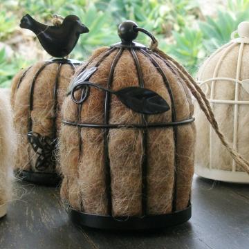 Leaf Bird Nester, Bird Nesting Fibre, Llama Fibre Nester, Nesting Material, Wildlife Nester, Garden Decor, Gift for Garden, Garden Ideas