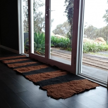 Alpaca Fiber - Floor Runner - Authentic Alpaca - Felt Rug - Floor Runner - Natural Fiber Rug - Floor Mat
