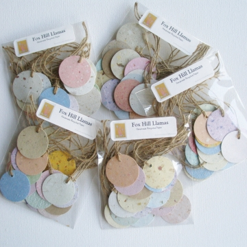 Handmade Recycled Paper Tags