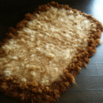 Felt Rug. Thick Alpaca Rug / Throw.