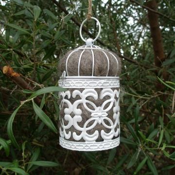 Nesting Material in Holder, Llama Fibre. Bird Nesting Material, Native nest filler,  Garden Decor, Mother's Day, Gift for Mum, Nature Garden