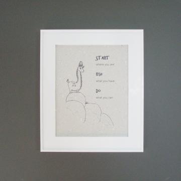 LLama poo paper Print. Motivation Llama Print on Handmade Recycled Paper ... with Lama Poo! Llama Print