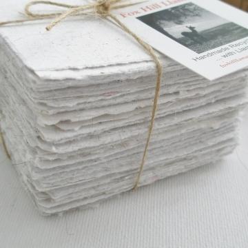 Llama Fibre Note Paper, Hand made Paper, Recycled Paper, Hand Torn note paper, 100 sheets, Box Of Paper, Note Paper, Llama, Llama Gifts