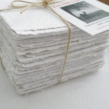 Llama Fibre Note Paper, Hand made Paper, Recycled Paper, Hand Torn note paper, 100 sheets, Box Of Paper, Note Paper, Llama, Llama Gifts