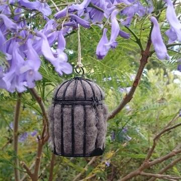 Native Bird Nester, Llama Fibre, Small Nester, Garden decoration, Eco Gift, Nesting Material, Gardener Gift, Xmas Gift, Organic Gifts, Kids