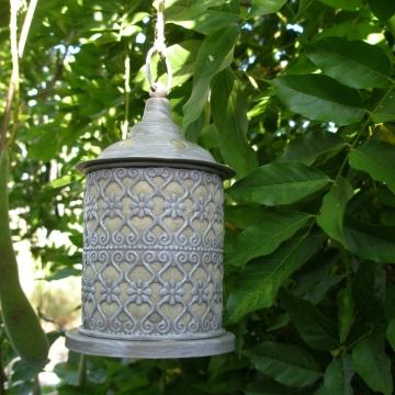 Bird Nester, Ornate Lantern, Llama Fibre Nesting Material, Garden Chic, Metal Outdoor lantern, Mother's Day