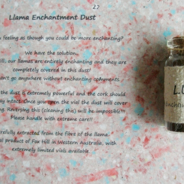 Llama Enchantment Dust. Funny / Novelty Gift