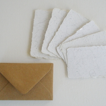 Llama Fibre Cards and Envelopes, Card Set, 6 Gift Cards, Novelty Card, Thankyou cards, Blank Mini Cards with Envelopes, Recycled, Llama Gift