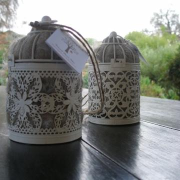 Bird Nester, Llama Fibre. Nesting Material, Attract Native Birds to Garden, Bird Gifts, Hanging Lantern, Wedding Lantern, Garden Lantern