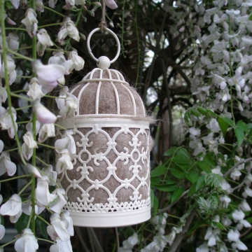 Bird Nester, Llama Fibre. Nesting Material to Attract Native Birds to your Garden. Outdoor lantern, Moroccan Lantern, Small Lantern, Gift