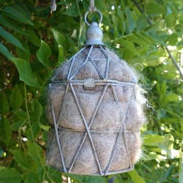 Lantern, Bird Nester, Llama Fibre. Nesting Material to Attract Native Birds to your Garden, Outdoor lantern, EcoFriendly Gifts, Organic Gift