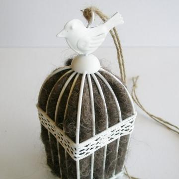 Birdcage, Llama Fibre Bird Nester, Gift for Bird Lover, Nature Lover, Gardener Gift, Bird Watchers, Garden Gift, Nature Lover, Kids Eco Gift
