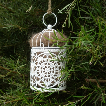 Bird Nesting Material with Holder, Llama Fibre. Nesting Material, Native Bird nest filler,  Garden lantern, Mother's Day,  Gift for Mum, Eco