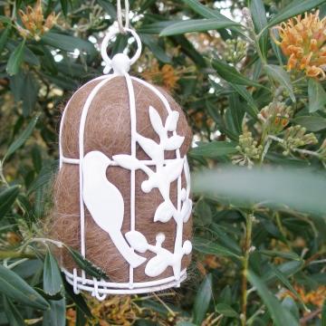 Native Bird Nester in Gift Box, Llama Fibre, Small Nester, Nest Builder, Nest Filler, Nesting Material, Gardener Gift, Xmas Gift