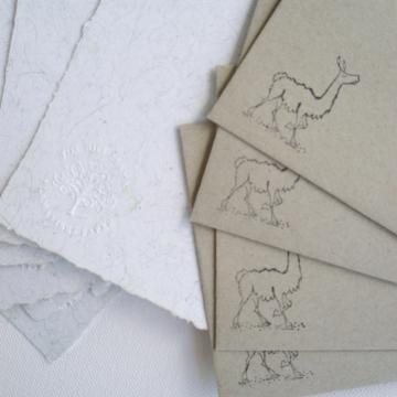 Llama Fibre Letter Set, Recycled Paper Writing Set, Sheets and Envelopes, Handmade Paper, Llama Gifts, Writing Set, Llama Products, Eco Gift