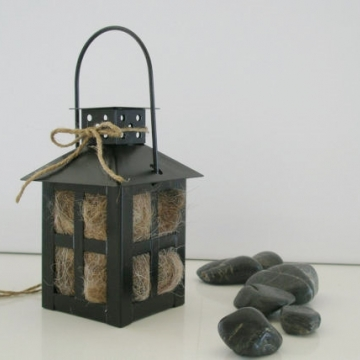 Bird Nester, Llama Fibre, Black Lantern, Japanese Lantern, Nesting Fibre, Nesting Material, Hanging Lantern, Japanese Garden Decor, Eco Gift