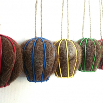Native Bird Nester -  Bird Nesting Fibre - Outdoor Decor - Eco Friendly Home - Nature Lover Gift - Colourful Nester - Colorful Aviary