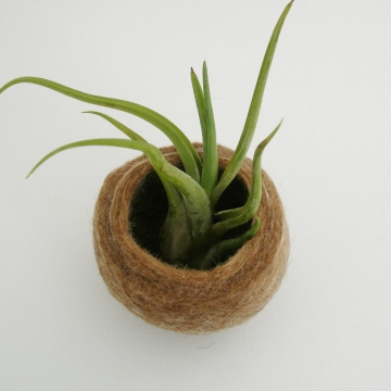 Llama Fibre - Felt Vessel - Felt Pod - Felted bowl - Shelf Decor - Window Sil Decor - Llama Lover Gift - Natural Decor - Felt Bowl - Vessel